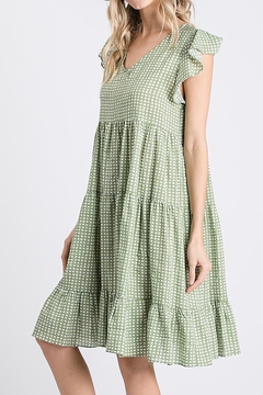 Ces Femme  Ruffle Dotty Dress - Alternate List Image