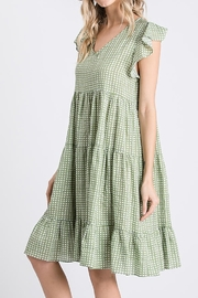 Ces Femme  Ruffle Dotty Dress - Back cropped