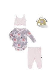 Kickee Pants Ruffle Elephant Gift-Set - Front cropped