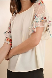 Umgee Ruffle Embroidered Blouse - Product Mini Image