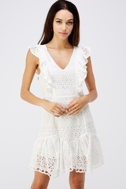 Petalroz Ruffle Eyelet Dress - Product Mini Image