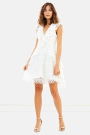 Elliatt Ruffle Eyelet Dress - Product Mini Image