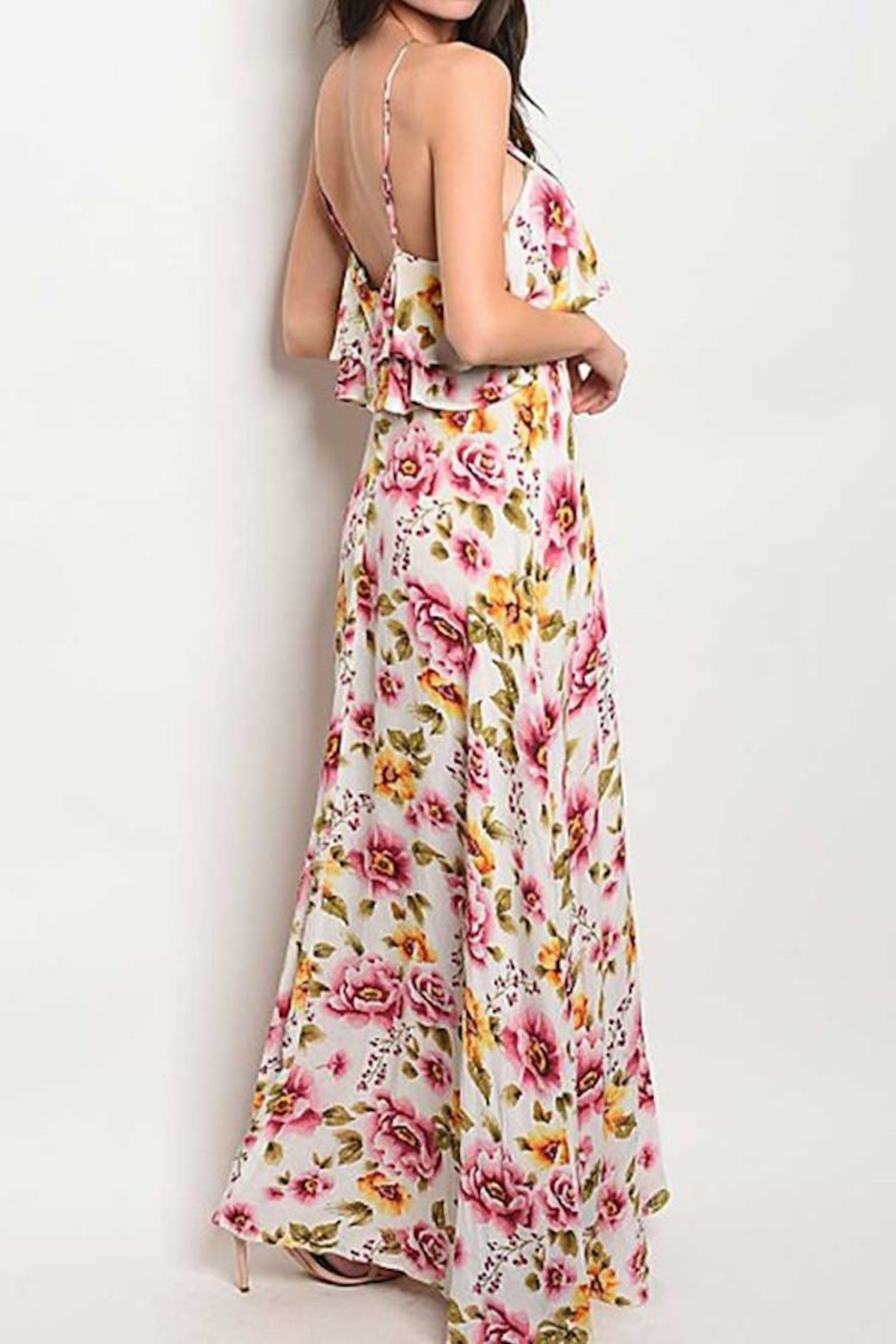 Compendium boutique Ruffle Floral Maxi - Front Full Image