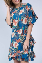 Uashmama Ruffle Floral Print Dress - Product Mini Image