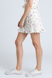 storia Ruffle Floral Skirt - Back cropped