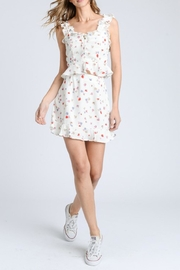 storia Ruffle Floral Skirt - Front full body