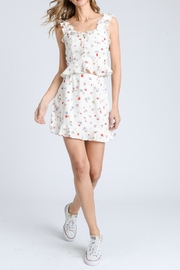 storia Ruffle Floral Top - Front full body