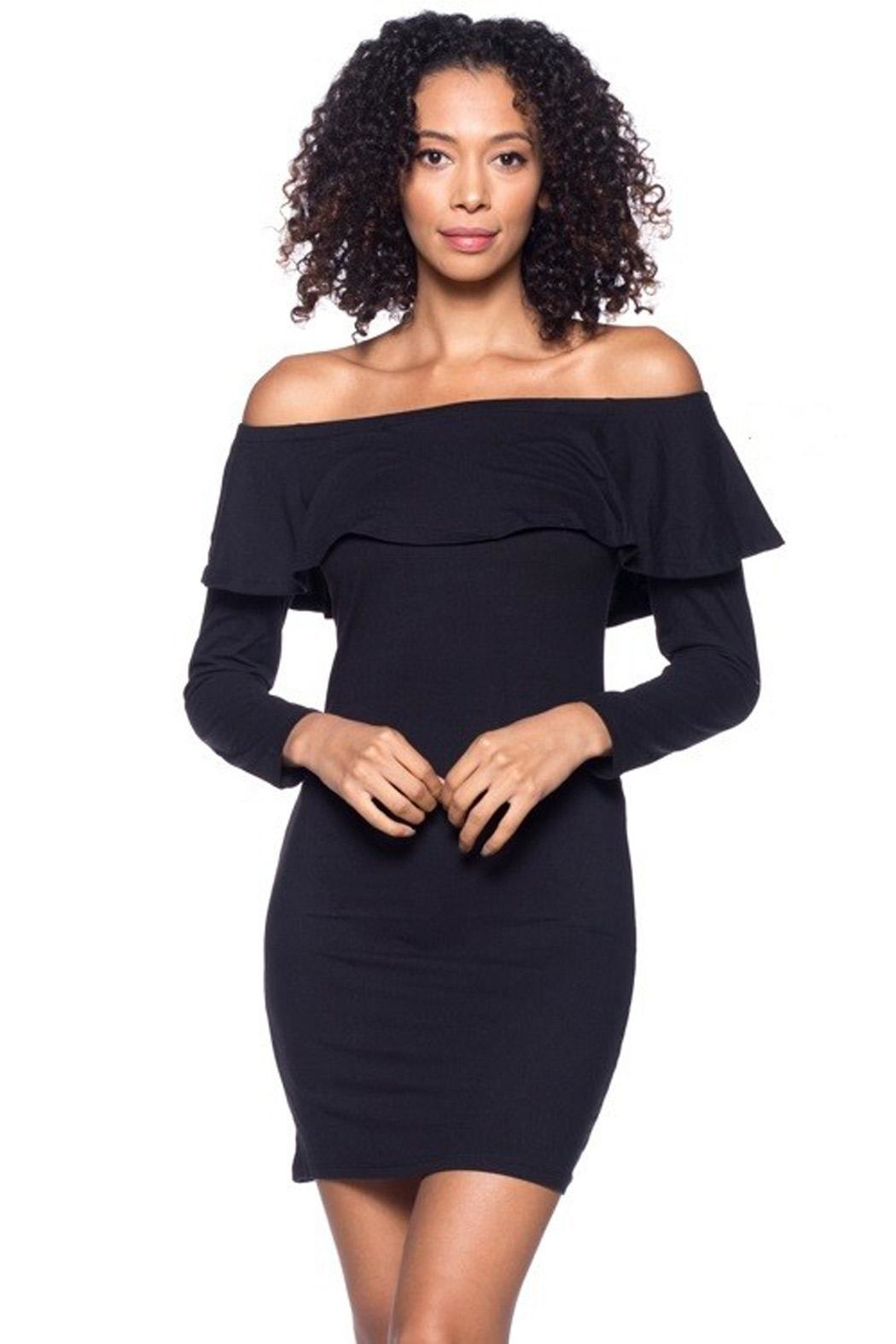 Capella Apparel Ruffle Flounce Dress - Front Cropped Image