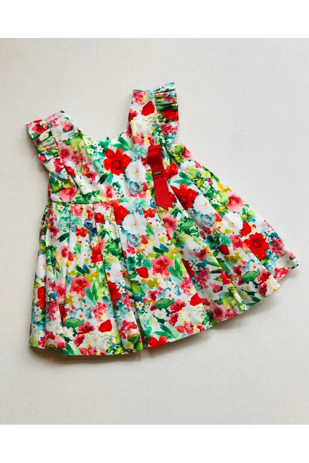 Mayoral Ruffle Flower Dress - Front Cropped Image