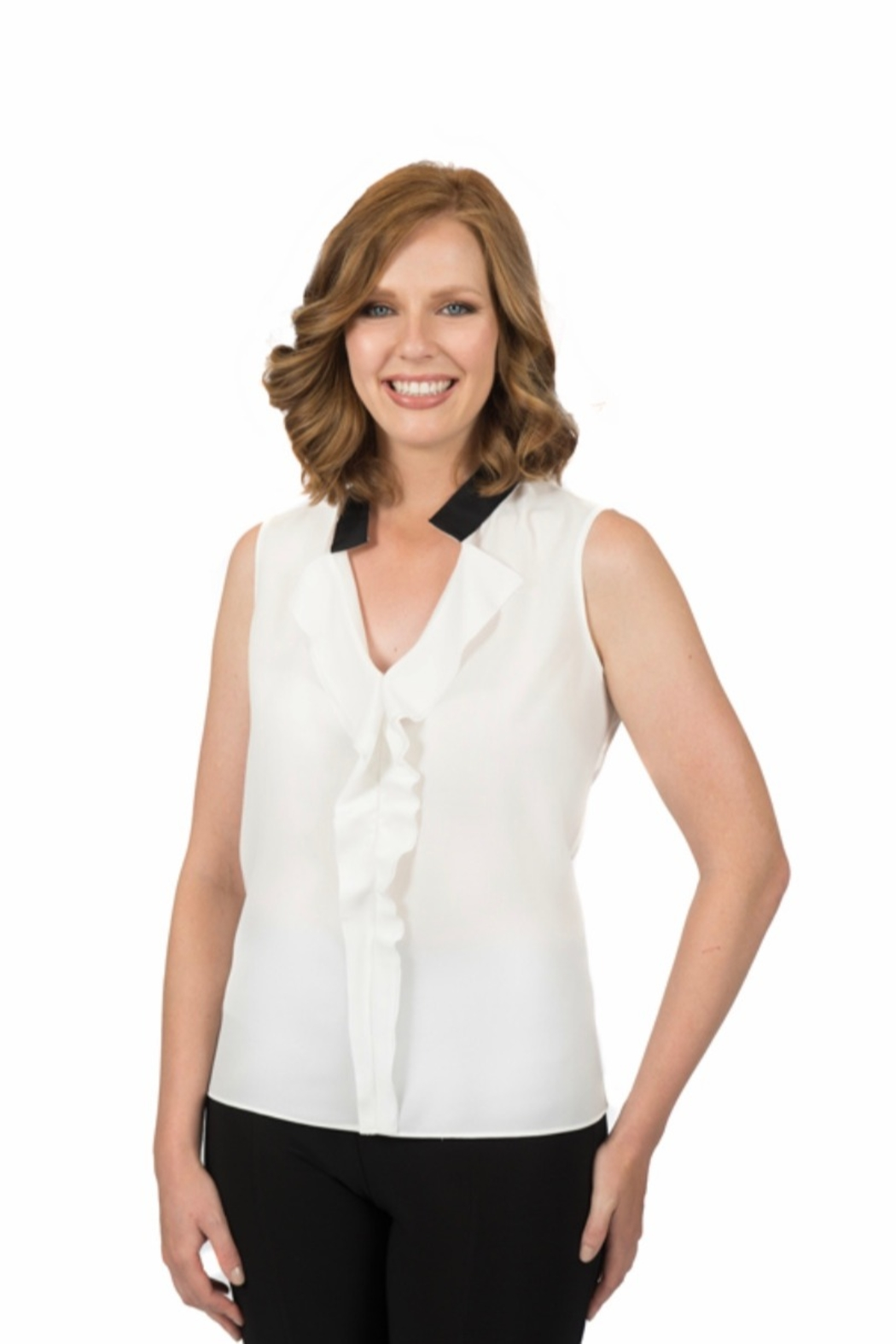 Scapa Ruffle Front Blouse - Main Image