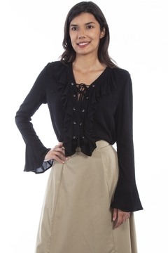 Scully  Ruffle Front Blouse - Product List Image