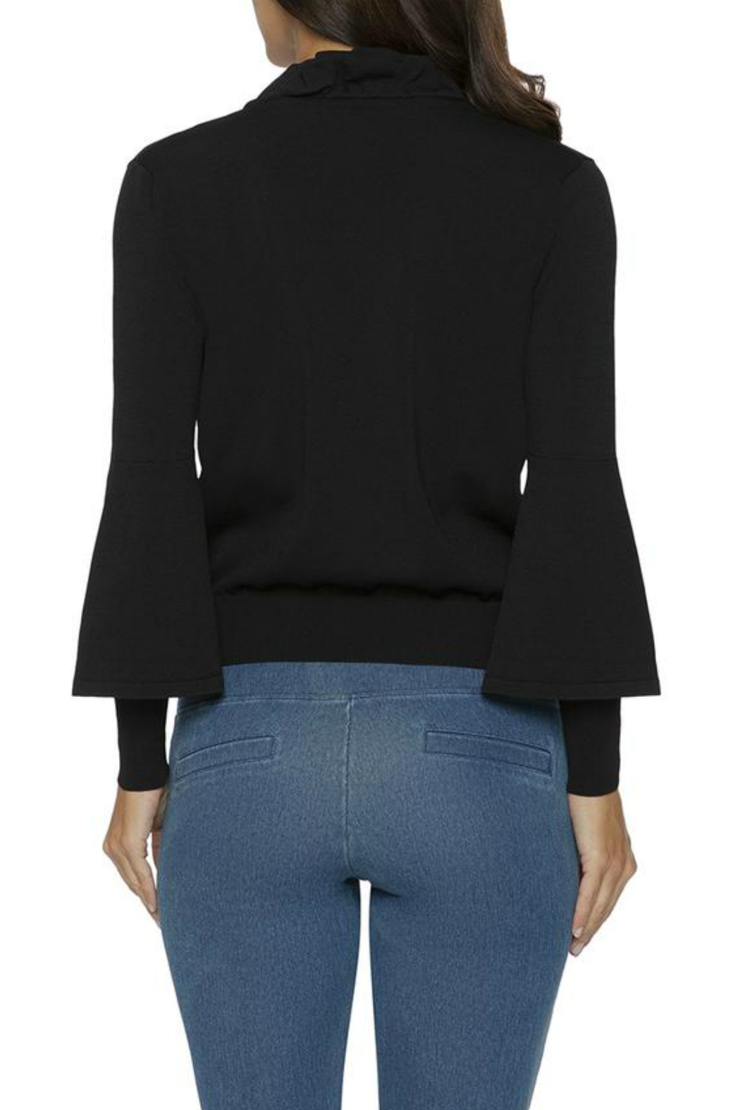 Lysse Ruffle Front Cardigan - Side Cropped Image