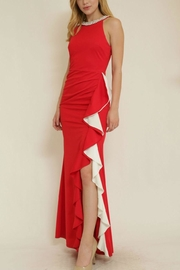 The Clothing Co Ruffle Front Longdress - Front full body