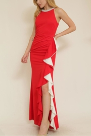 The Clothing Co Ruffle Front Longdress - Front cropped