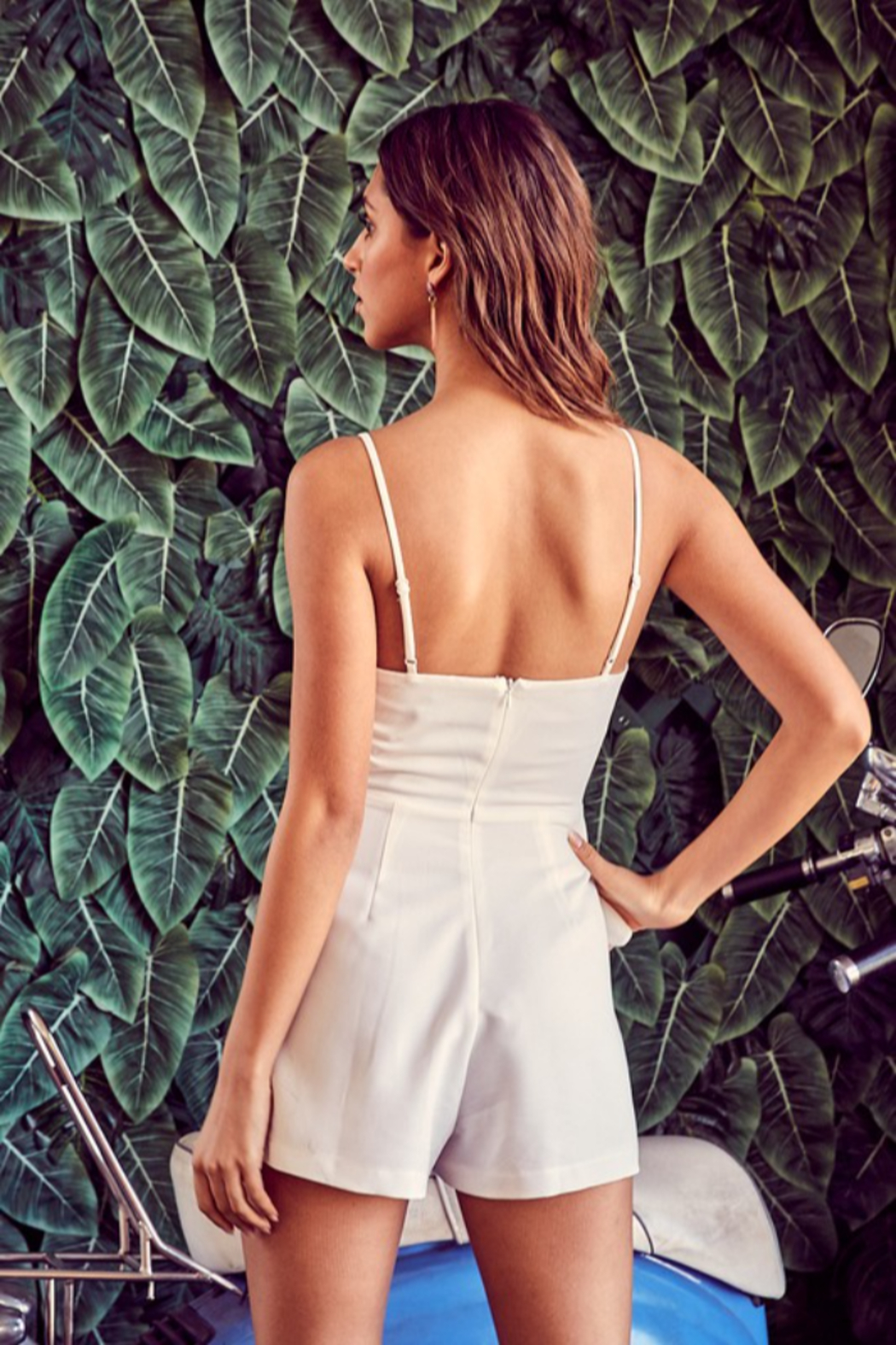 Do + Be  Ruffle Front Romper - Side Cropped Image