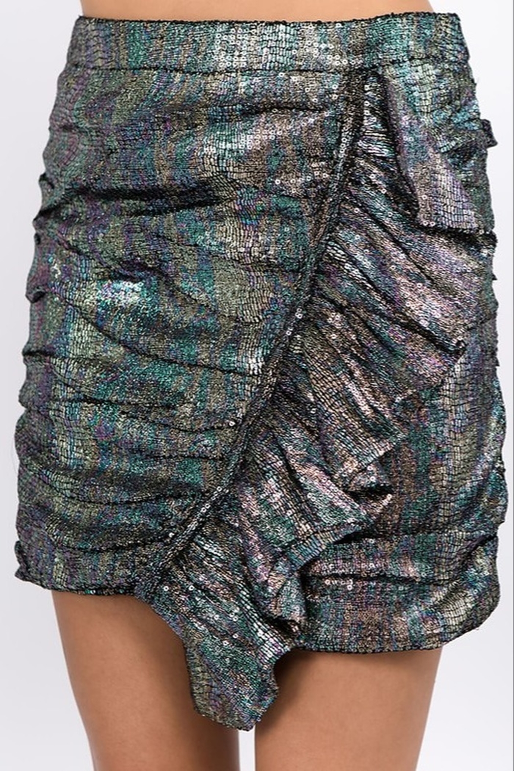 Ontwelfth Ruffle Front Skirt - Back Cropped Image