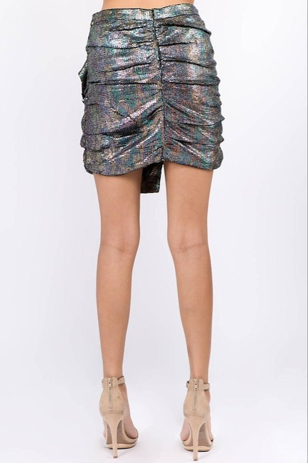 Ontwelfth Ruffle Front Skirt - Side Cropped Image