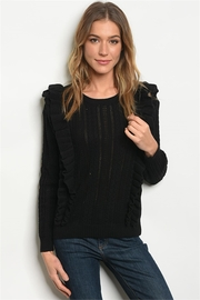 LoveRiche Ruffle Front Sweater - Product Mini Image