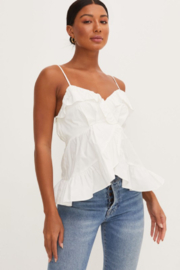 Lush  Ruffle Front Tank Top - Product Mini Image
