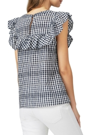 Waverly Grey Ruffle Gingham Top - Side cropped
