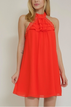 essue Ruffle Halter Dress - Product List Image