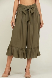 Wishlist Ruffle-Hem Culotte Pants - Product Mini Image