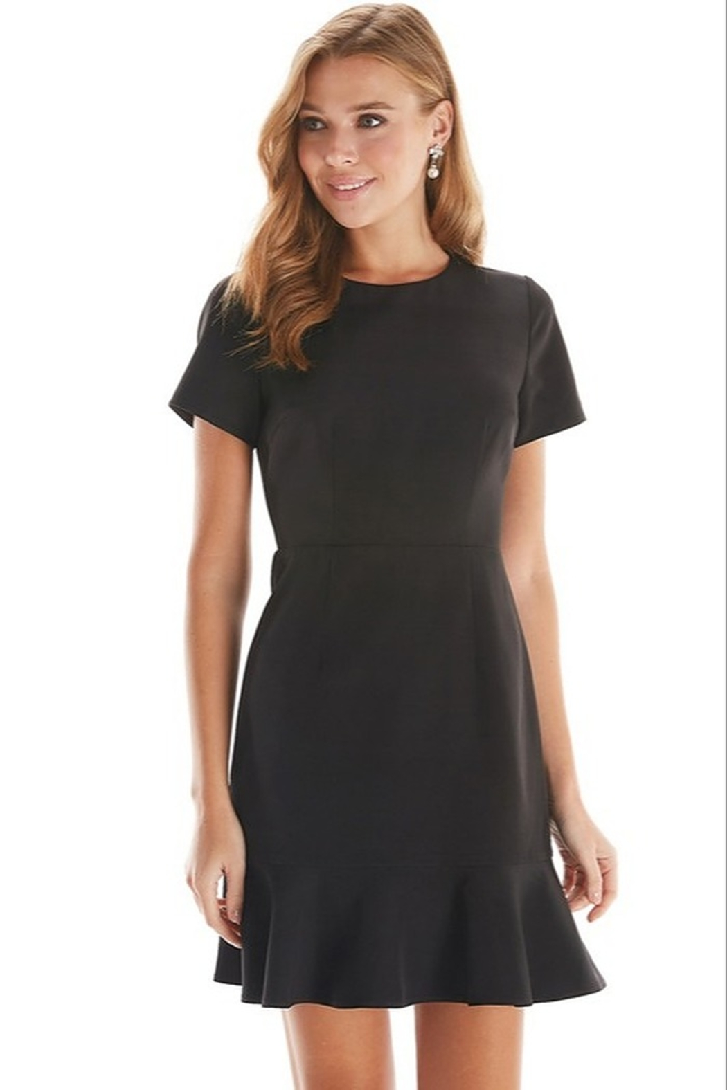 TCEC Ruffle Hem Dress - Front Cropped Image