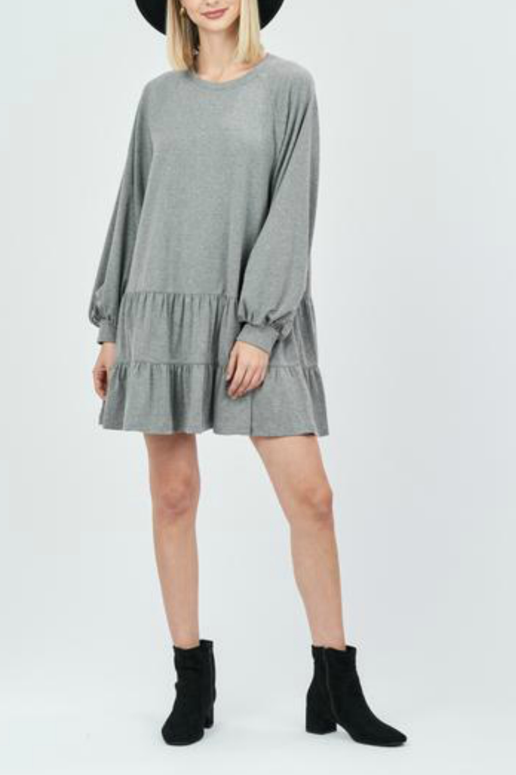 LoveRiche Ruffle hem dress - Main Image