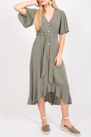LoveRiche Ruffle-Hem Midi Dress - Product Mini Image