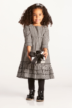 Shoptiques Product: Ruffle Hem Plaid Dress