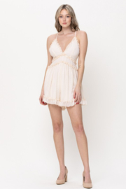 The Clothing Co Ruffle Hem Romper - Front cropped