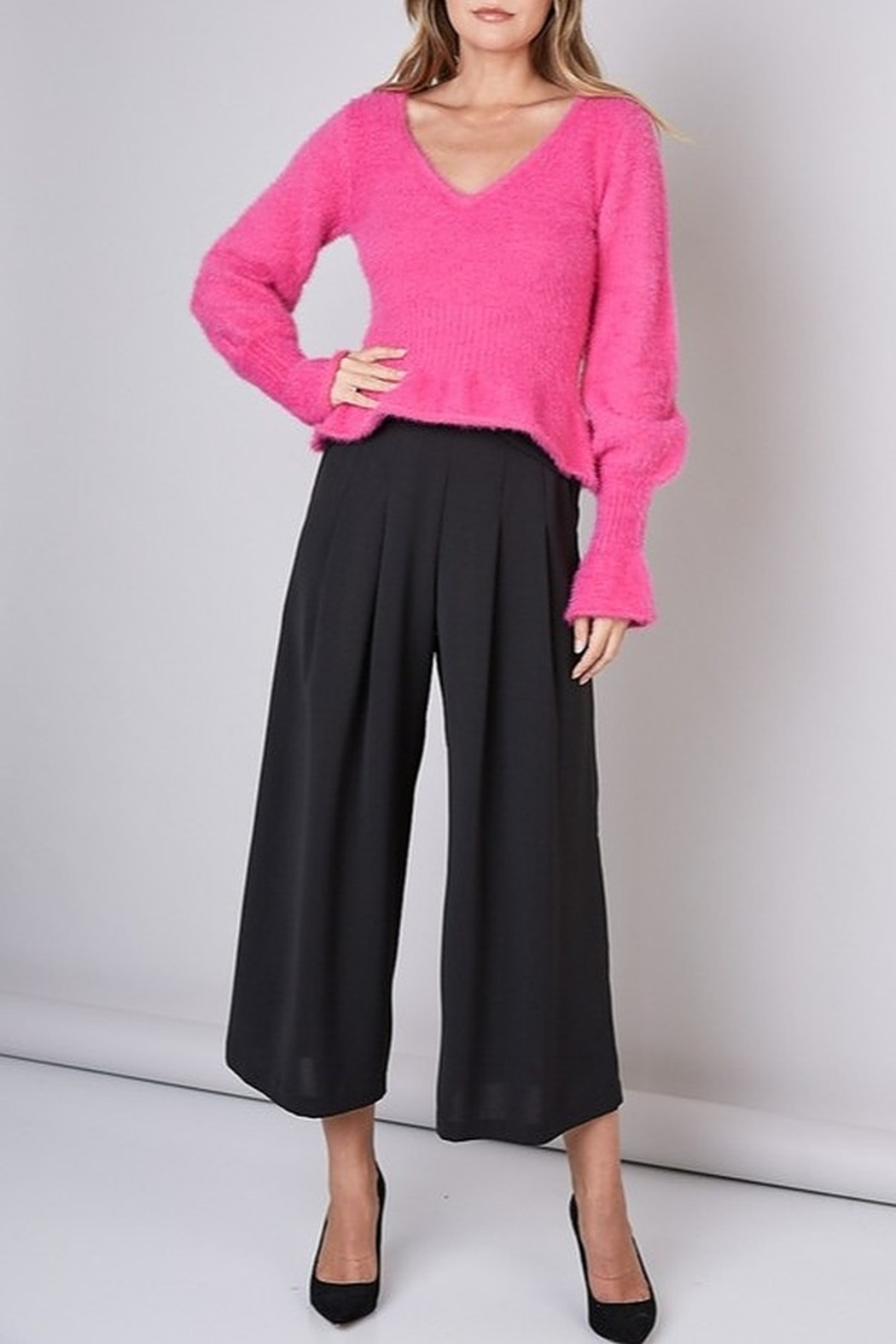 Do & Be Ruffle Hem Sweater - Side Cropped Image