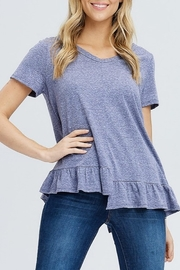 Papermoon Ruffle Hem Tee - Product Mini Image