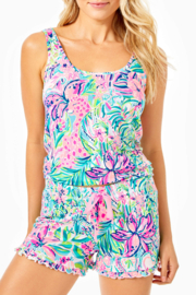 Lilly Pulitzer  Ruffle Knit PJ Shorts - Front cropped