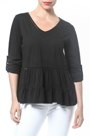Madonna & Co Ruffle Knit Tee - Front cropped