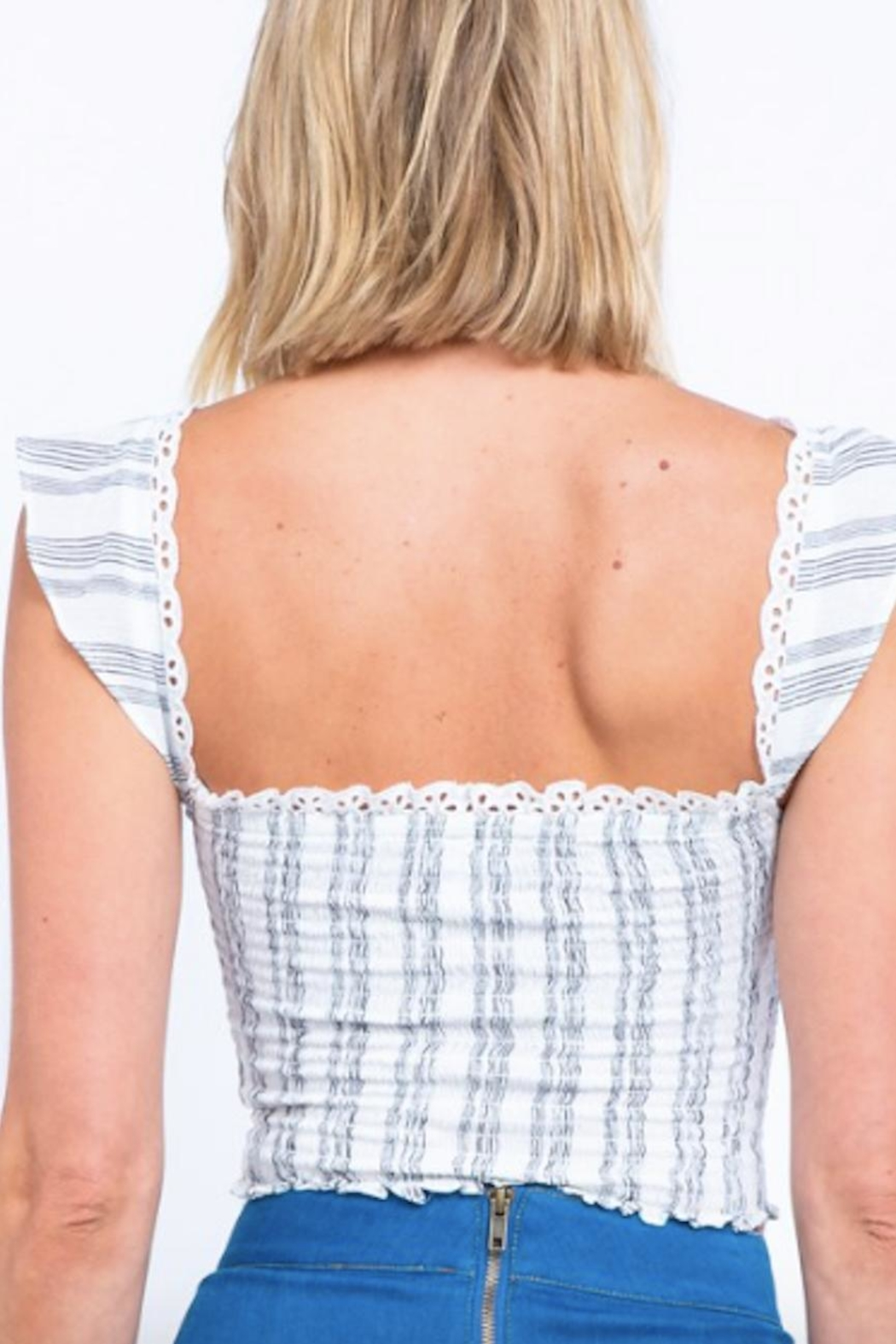TIMELESS Ruffle Lace Top - Side Cropped Image