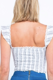 TIMELESS Ruffle Lace Top - Side cropped