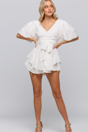 The Clothing Co Ruffle Layer Romper - Product Mini Image