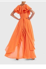 Forever Unique Ruffle Layered Maxi - Front full body