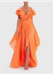 Forever Unique Ruffle Layered Maxi - Front cropped