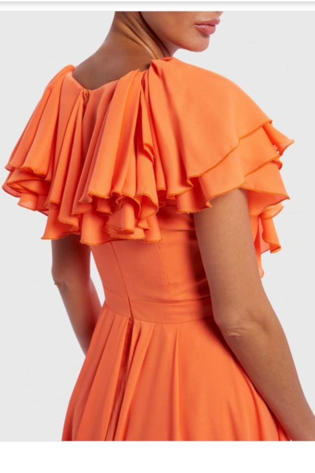 Forever Unique Ruffle Layered Maxi - Side Cropped Image