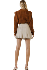 Endless Rose Ruffle Leather Skirt - Other