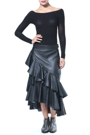 Madonna & Co Ruffle Leather Skirt - Product Mini Image