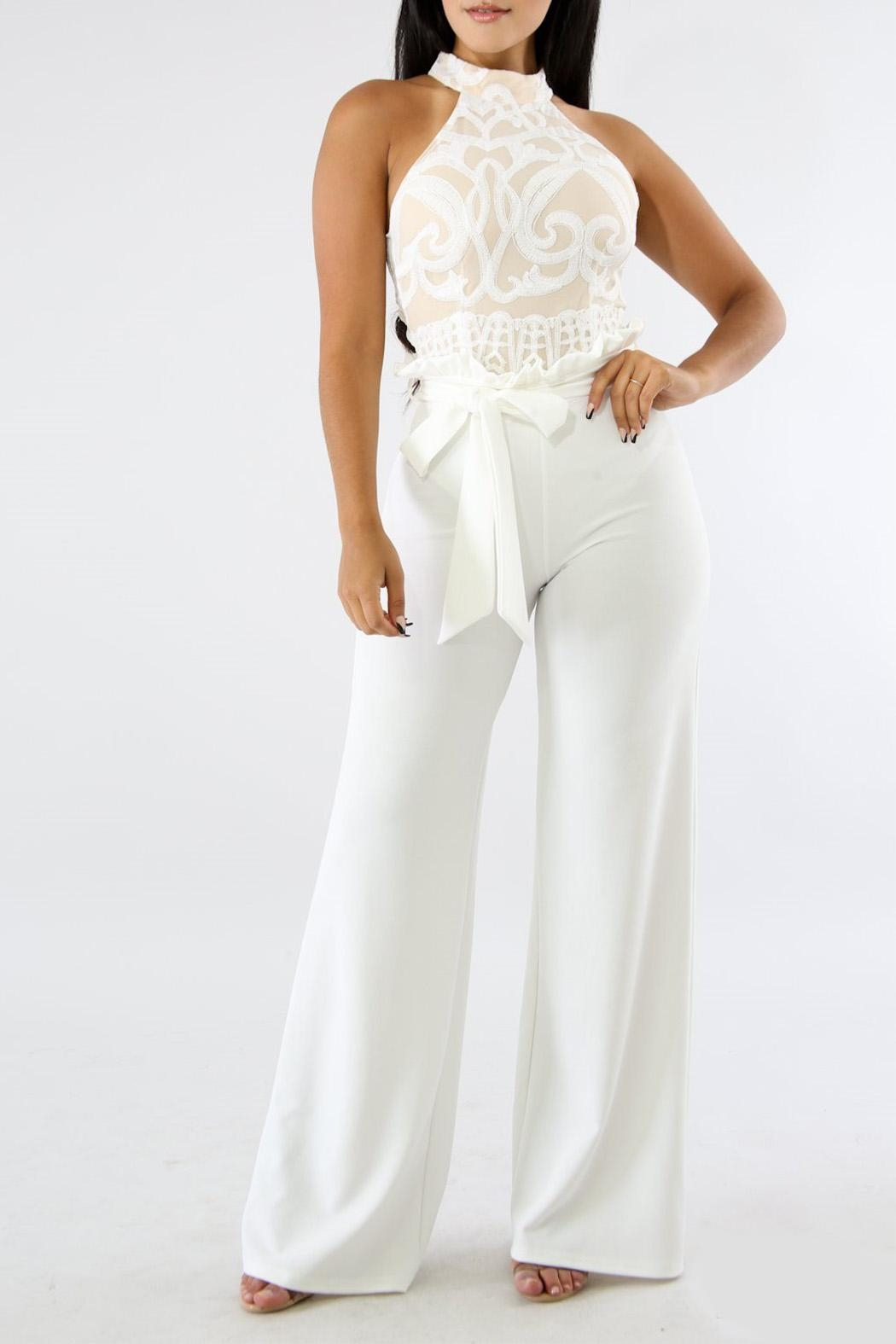Good Time Ruffle Long Pants - Front Cropped Image