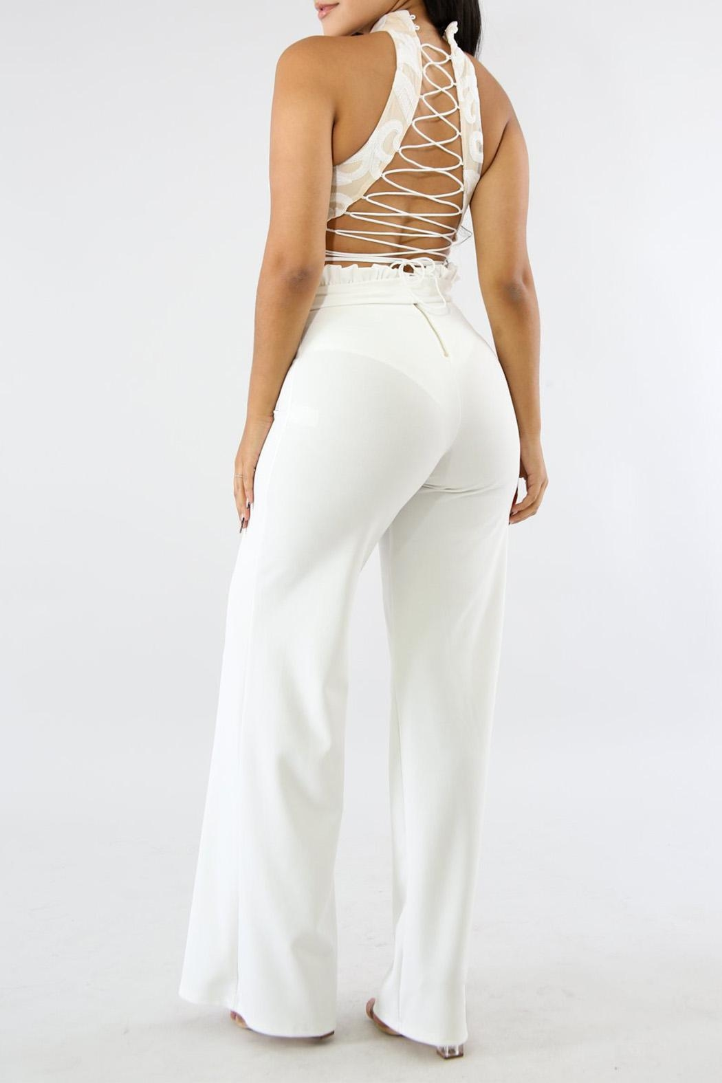 Good Time Ruffle Long Pants - Front Full Image