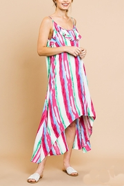 Umgee USA Ruffle Maxi Dress - Front cropped