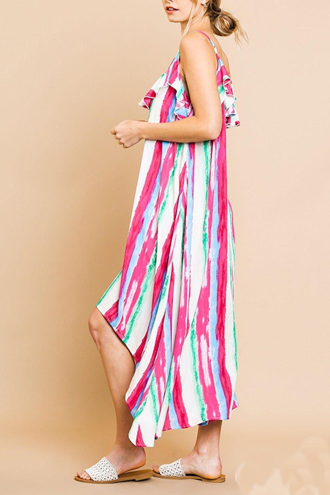 Umgee USA Ruffle Maxi Dress - Side Cropped Image
