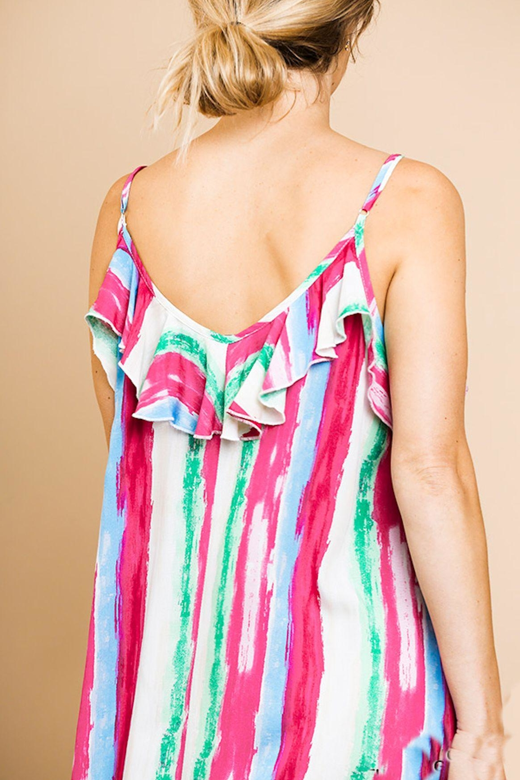 Umgee USA Ruffle Maxi Dress - Back Cropped Image