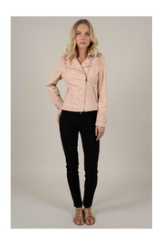 Molly Bracken Ruffle Moto Jacket - Product Mini Image