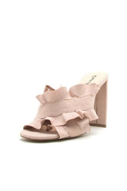 Qupid Ruffle Mules - Product Mini Image